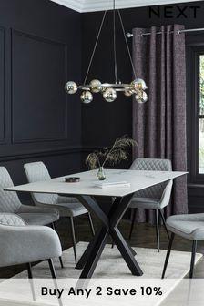 White Astoria Ceramic 6 Seater Dining Table