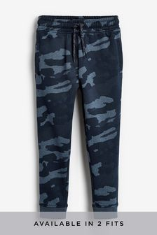 Blue Camo Skinny Fit Cuffed Joggers (3-16yrs)