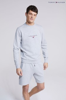 Tommy Hilfiger Grey Essential Tommy Crewneck Top