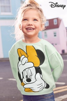 Blue Minnie Mouse™ Sweatshirt Soft Touch Jersey (3mths-7yrs)