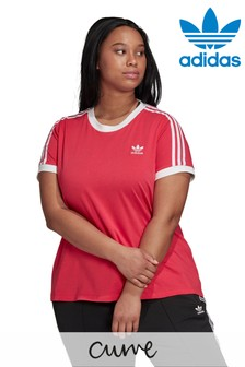 adidas Originals Curve 3 Stripe T-Shirt
