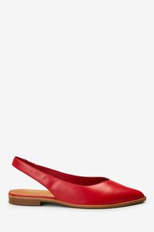 Red Signature Forever Comfort® Leather Point Slingback Shoes