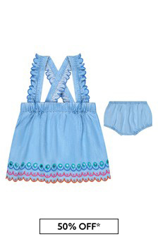 Stella McCartney Kids Baby Girls Blue Skirt