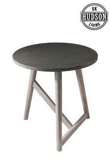 Hamar Round Side Table Grey by Hudson Living