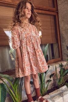 Ginger Paisley Pattern Wrap Dress (3-16yrs)