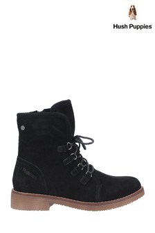Hush Puppies Black Milo Zip Ankle Boots