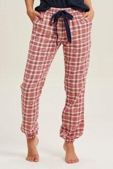 FatFace Pink Flower Jacquard Cuffed Pants