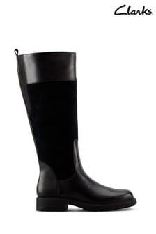 Clarks Black Warm Lined Lea Orinoco Hi Boots