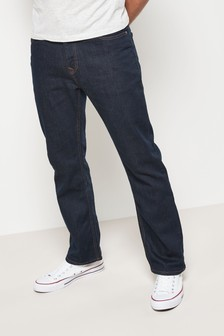 Dark Ink Bootcut Fit Jeans With Stretch