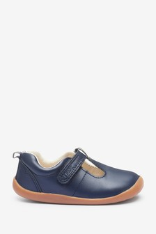 Leather First Walker T-Bar Shoes