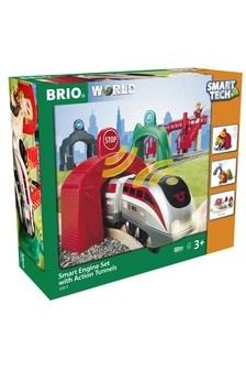 BRIO World Smart Tech Railway Engine Set With Action Tunnels