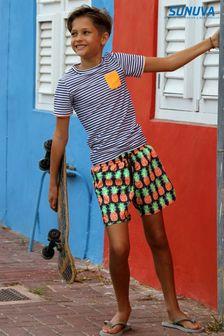 Sunuva Navy Crazy Pineapple Swim Shorts