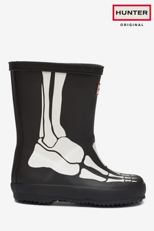 Hunter Original Black Kids First Classic Skeleton Welly