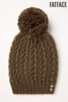 FatFace Pattern Cable Beanie Hat