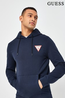 Guess Navy Christian Logo Hoodie