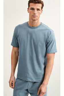 Blue Relaxed Boxy Fit T-Shirt