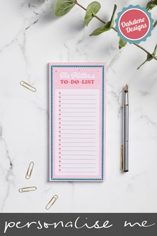 Personalised Family To Do List by Oakdene