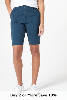 Blue Chino Knee Shorts