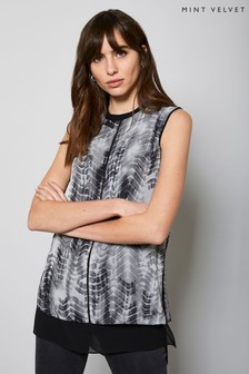 Mint Velvet Della Tie Dye Print Vest Top