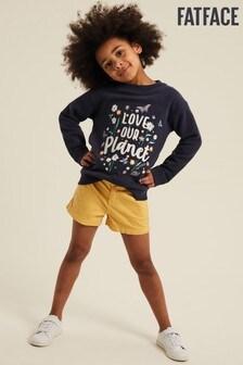 FatFace Yellow Alice Chino Shorts
