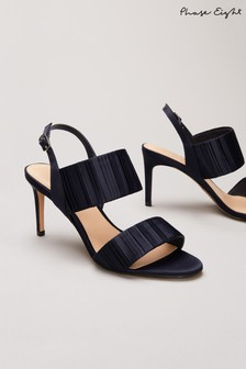 Phase Eight Blue Kitty Pleated Sandals