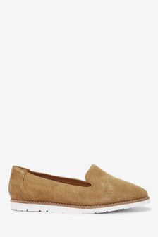 Ochre Suede Leather EVA Slipper Loafers