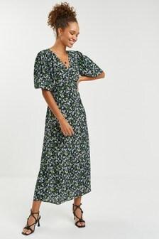 Floral Midi Tea Dress