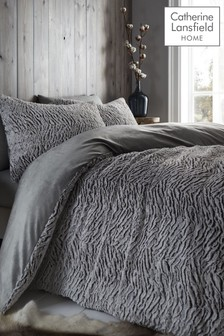 Catherine Lansfield Wolf Faux Fur Duvet Cover and Pillowcase Set