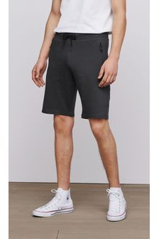 Slate Straight Fit Zip Pocket Jersey Shorts