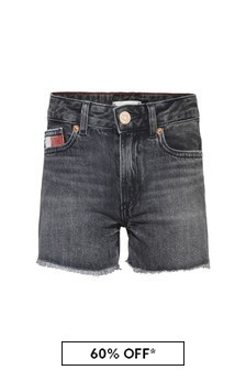 Tommy Hilfiger Girls Blue Cotton Shorts