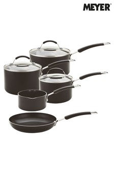 5 Piece Meyer Induction Aluminium Saucepan And Frypan Set