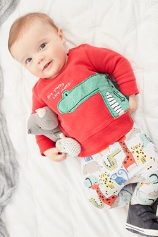 Red Character Jumper And Joggers Two Piece Set (0mths-2yrs)