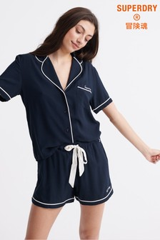 Superdry Navy Short Pyjamas Set