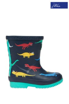 Joules Blue Baby Printed Wellies