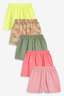 Pink 5 Pack Pretty Shorts (3mths-7yrs)