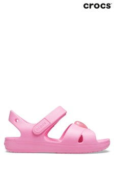 Crocs Pink Cross Strap Sandals