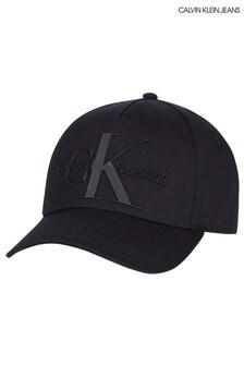 Calvin Klein Jeans Black Monogram Cap