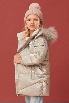 Metallic Shower Resistant Padded Jacket (3-16yrs)