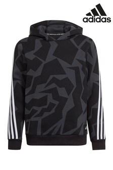 adidas Black Printed Overhead Hoodie