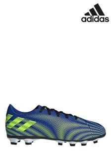 adidas Blue Kids Nemeziz P4 Firm Ground Football Boots