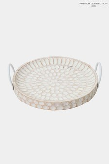 French Connection Sun Lotus Wooden Tray