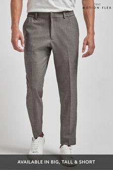 Light Grey Trousers Motion Flex Slim Fit Suit