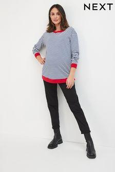 Black Maternity Mom Jeans