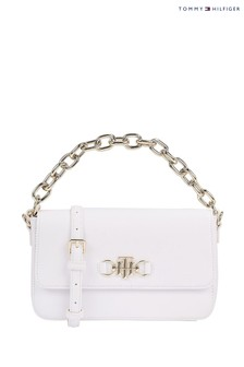 Tommy Hilfiger White TH Club Crossover Bag