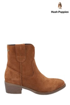 Hush Puppies Tan Iva Ladies Ankle Boots
