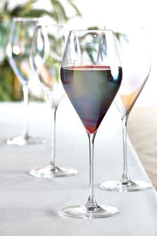 Paris Lustre Effect Set of 4 Red Wine Glasses