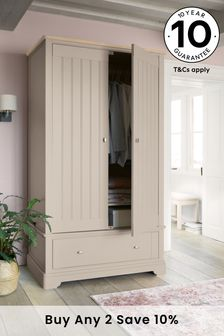 Stone Hampton Double Wardrobe