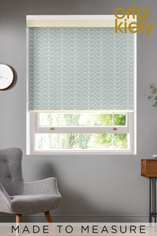 Linear Stem Duck Egg Blue Made To Measure Roller Blind by Orla Kiely