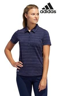 adidas Golf Navy Ultimate Stripe Polo