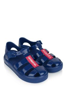Blue Logo Jelly Sandals